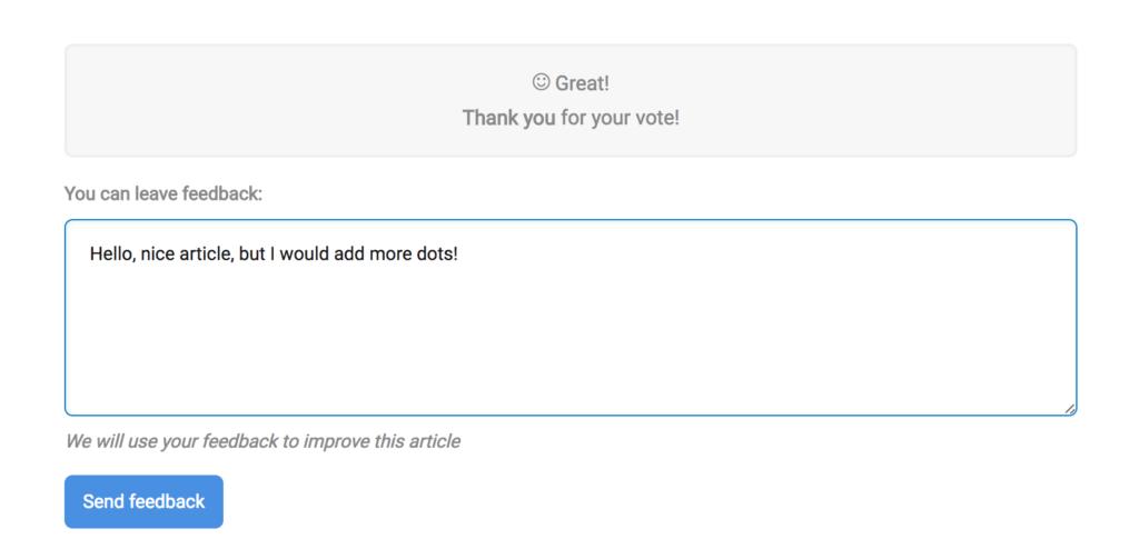 Knowledge base feedback form