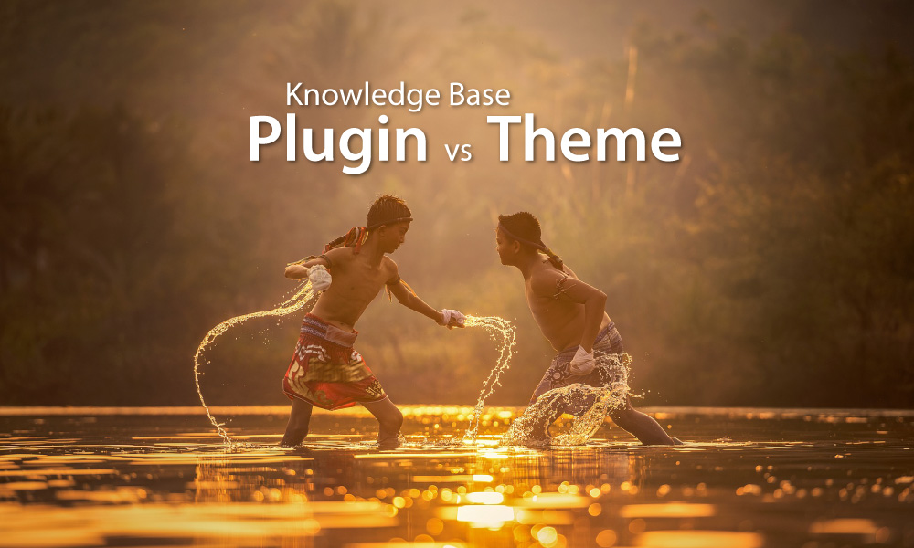 WordPress knowledge base Plugin vs Theme