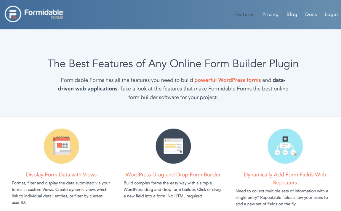 Formidable Forms page